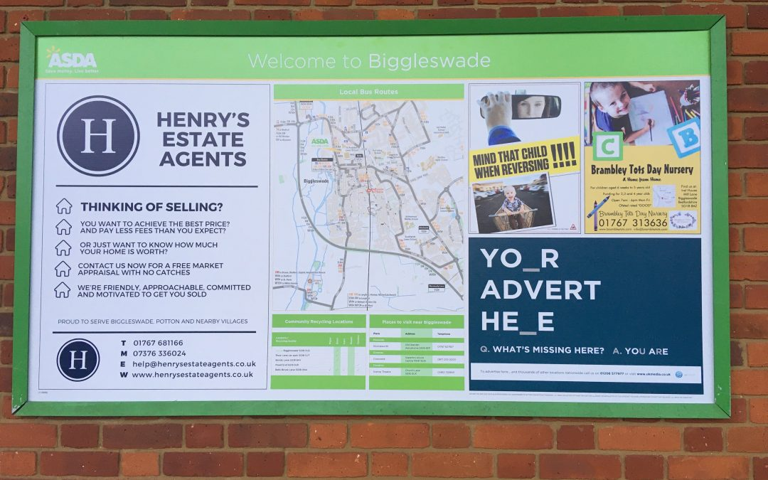 Henry's – now advertising at ASDA!!